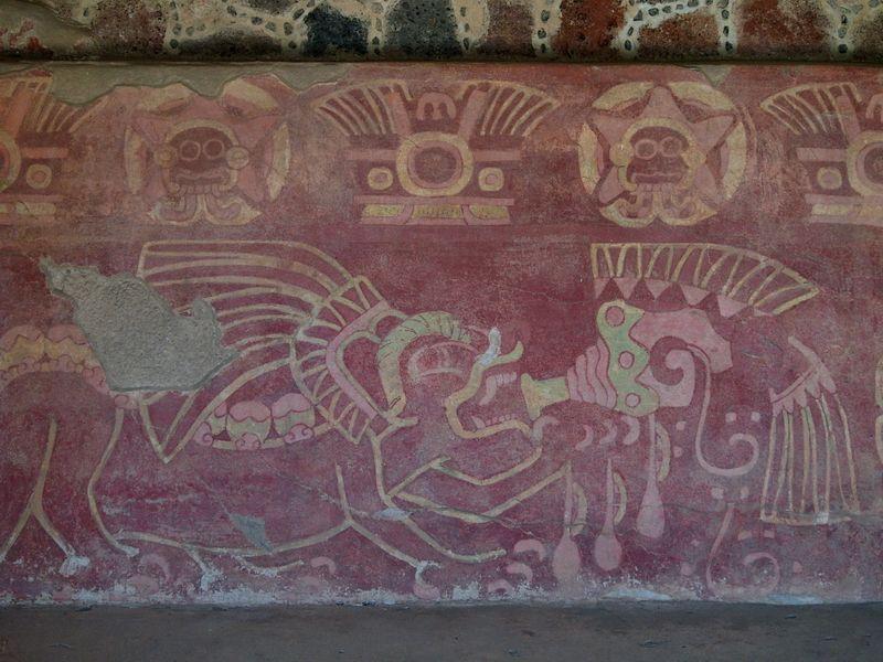 Fresco De Jaguar Con Caracol Sangrante Teotihuac 225 N