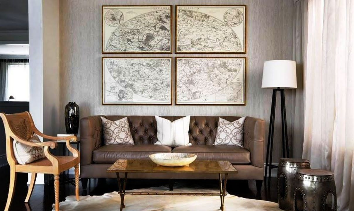 Large Map Wall Covering Ideas For Living Room Interior