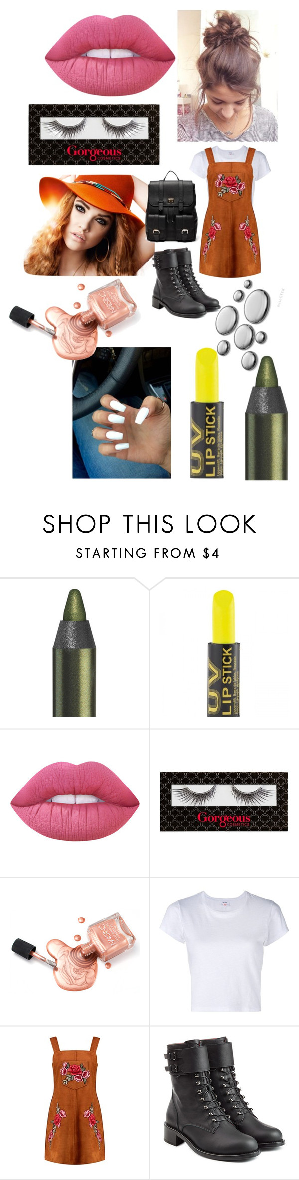 """Summer heat"" by wanderwonderadventure ❤ liked on Polyvore featuring Lime Crime, RE/DONE, Boohoo, Philosophy di Lorenzo Serafini and Sole Society"