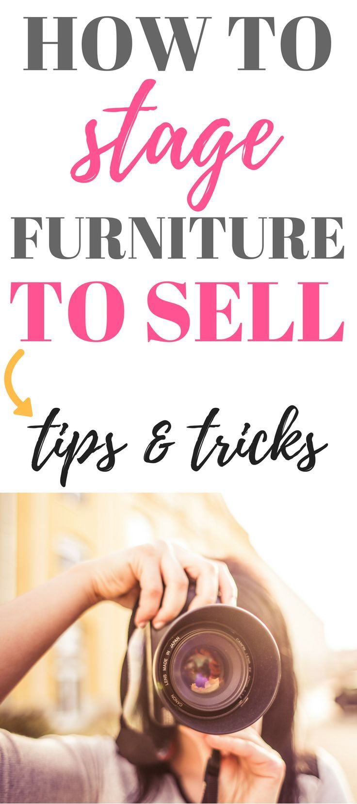 Staging Furniture to Sell - Tips and Tricks #craftstosell
