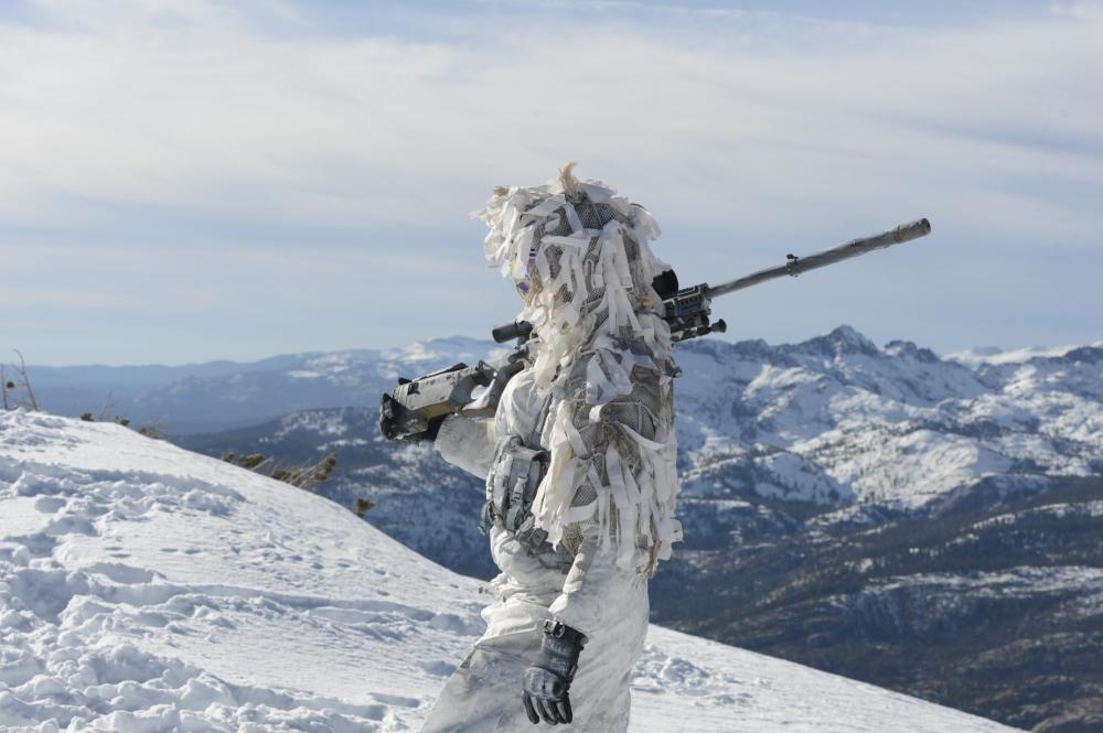 Navy SEALs demonstrate winter warfare capabilities.