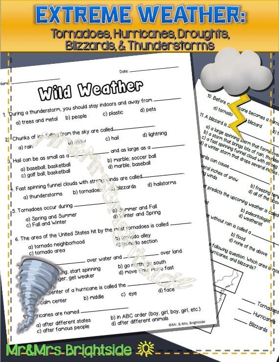 weather picture matching worksheet | lessons | Pinterest ...