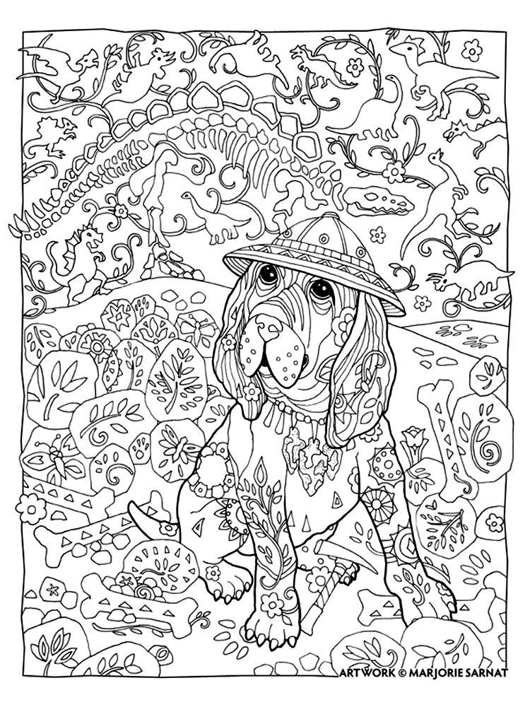 Marjorie Sarnat - Dazzling Dogs | Coloring Book | Pinterest