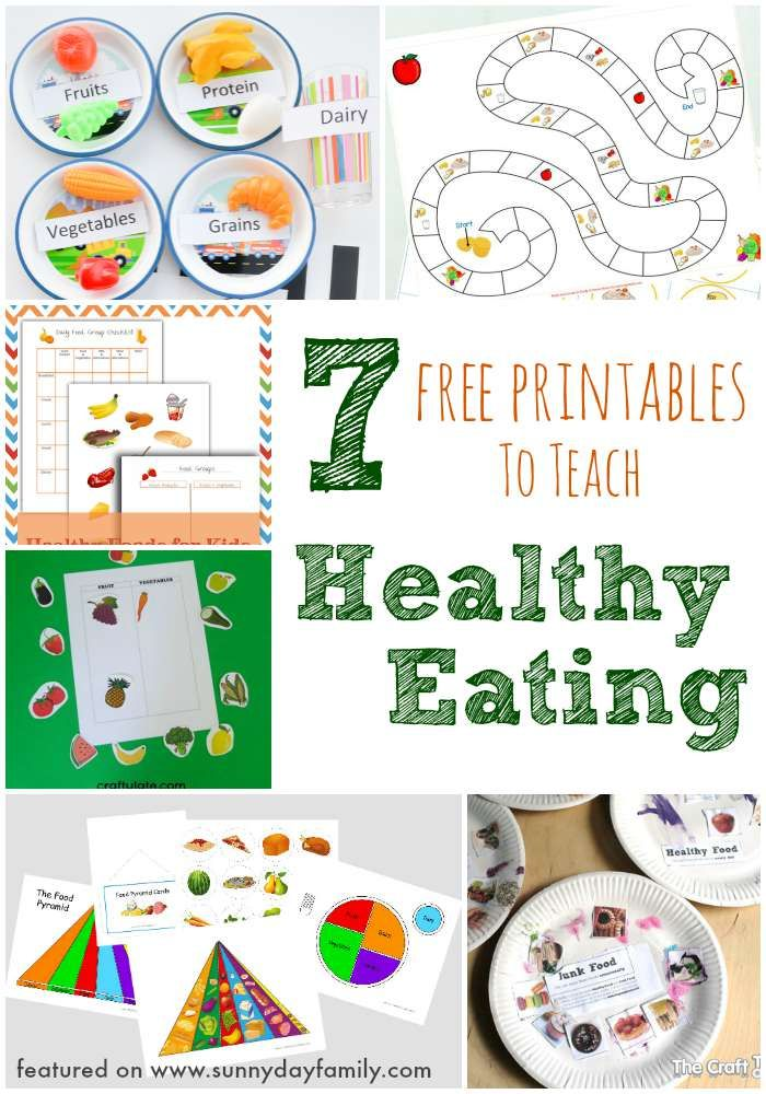 7 Free Printables to Teach Healthy Eating Nutrition
