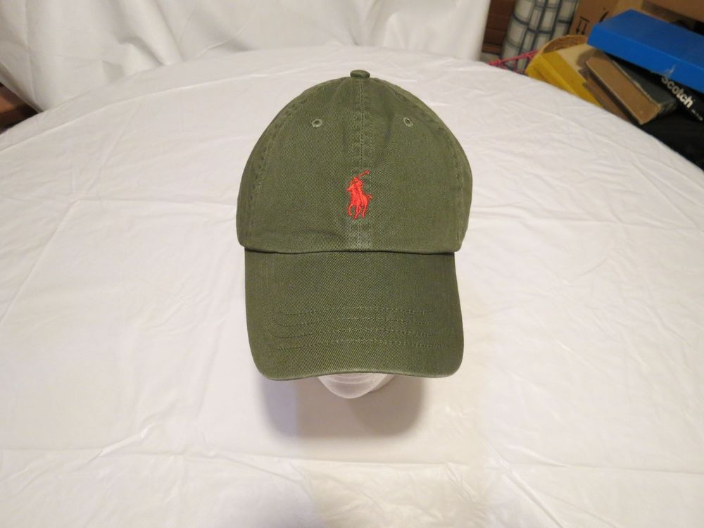 Mens Polo Ralph Lauren hat cap golf casual 6508265 army green adjustable  classic  PoloRalphLauren   6a274414ea5