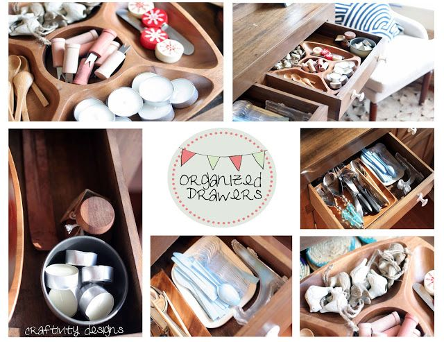 Organize Drawers In Your Dining Room Hutch
