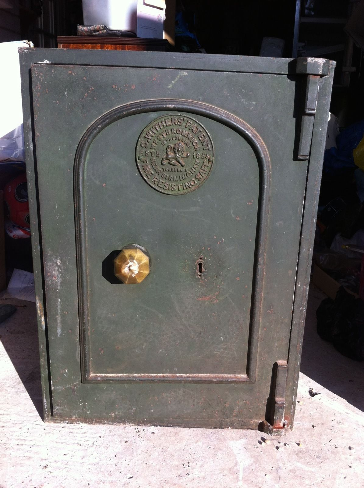 Antique Victorian Withers Patent 1855 Fireproof Iron Safe Ebay