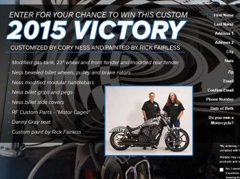 The Allstate Victory Gunner Motorcycle Sweepstakes