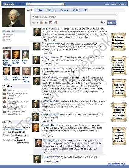 George Washington Fakebook Facebook Page 1st Term of Presidency ...