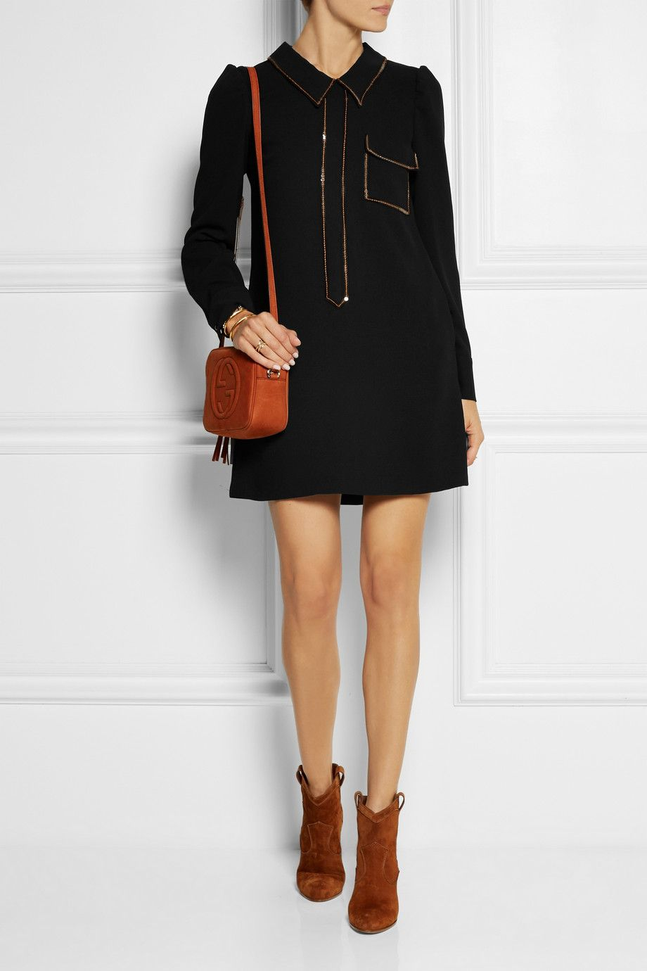 See By Chlo 233 Sequin Embellished Crepe Dress