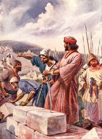 nehemiah 3 bible pictures nehemiah building the walls of on construction of walls id=64681