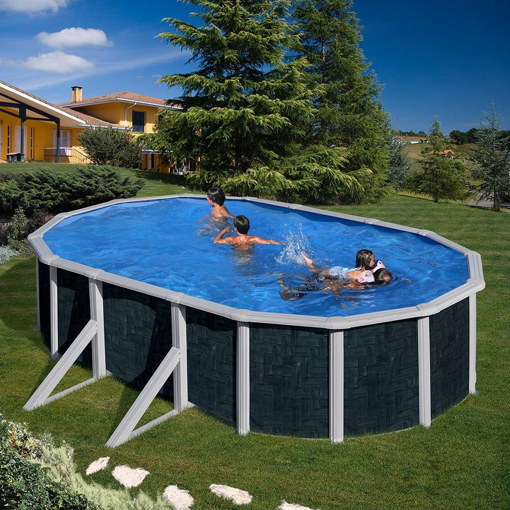 Piscina Gre Imitación Ratán Rattan Style Gre Above Ground Pool Piscinas Piscinas De Nivel Del Suelo Piscina Sobre Tierra