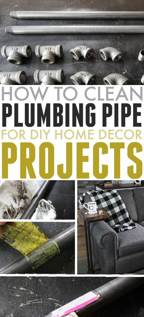If you have a fun DIY home decor project using plumbing pipe that you'd like to try, this will be a necessary first step. Here's how to clean plumbing pipe. #PlumbingPipe #CleanPlumbingPipe