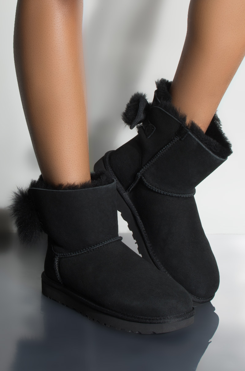 d344d8244ca UGG CLASSIC MINI FLUFF BOW BOOT | Products in 2019 | Ugg classic ...