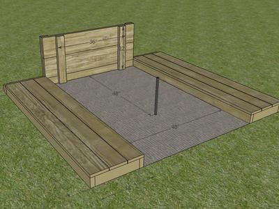How To Build A Horseshoe Pit Horseshoe Pit Backyard Projects
