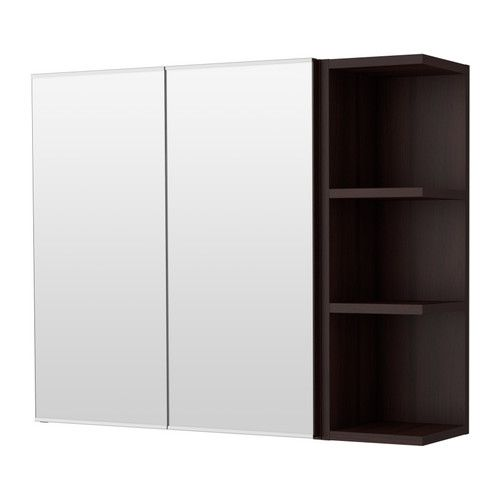 LILLÅNGEN Spiegelkast 2 deur/1 afsluitelement, wit - Ikea