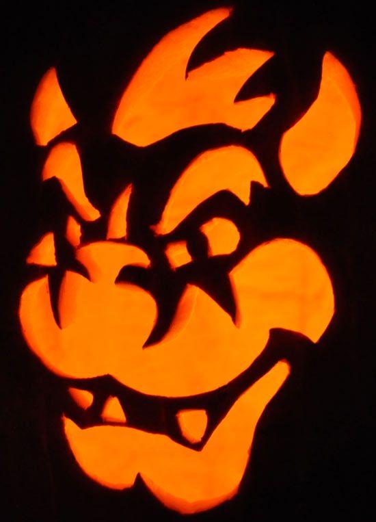 [+] Pumpkin Carving Templates Nintendo
