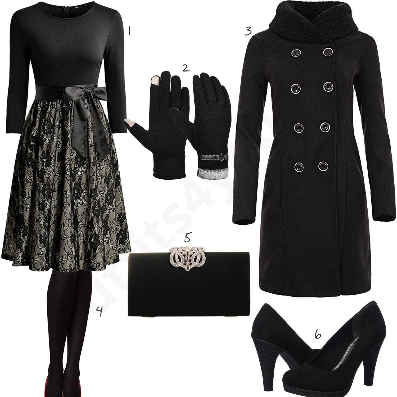 Elegantes Damenoutfit mit Kleid, Pumps und Armbanduhr | Mode