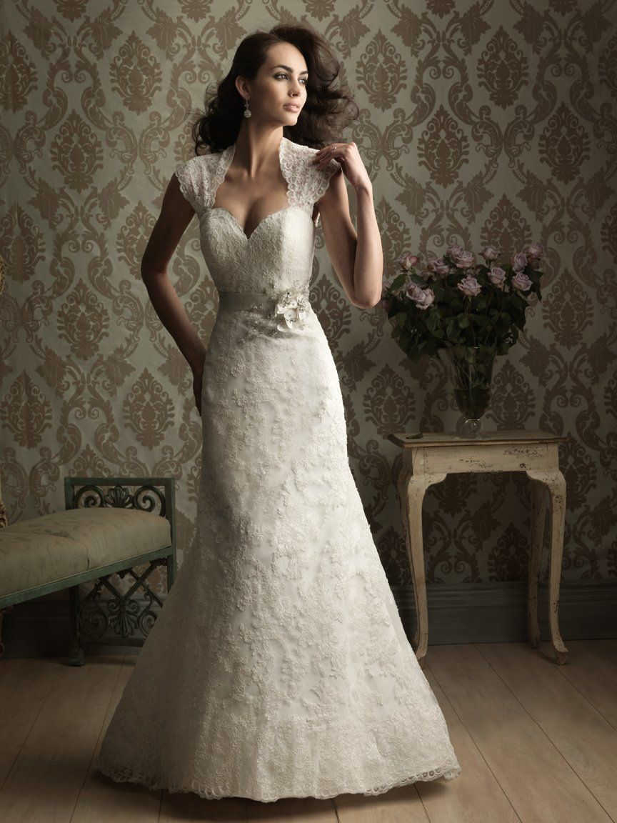 Sexy sweetheart beaded lace overlay wedding dress, AWG0150 | Voici ...