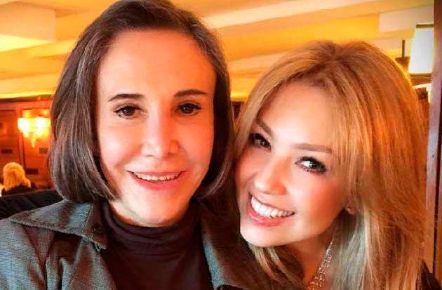 Thalía y Florinda mesa juntas