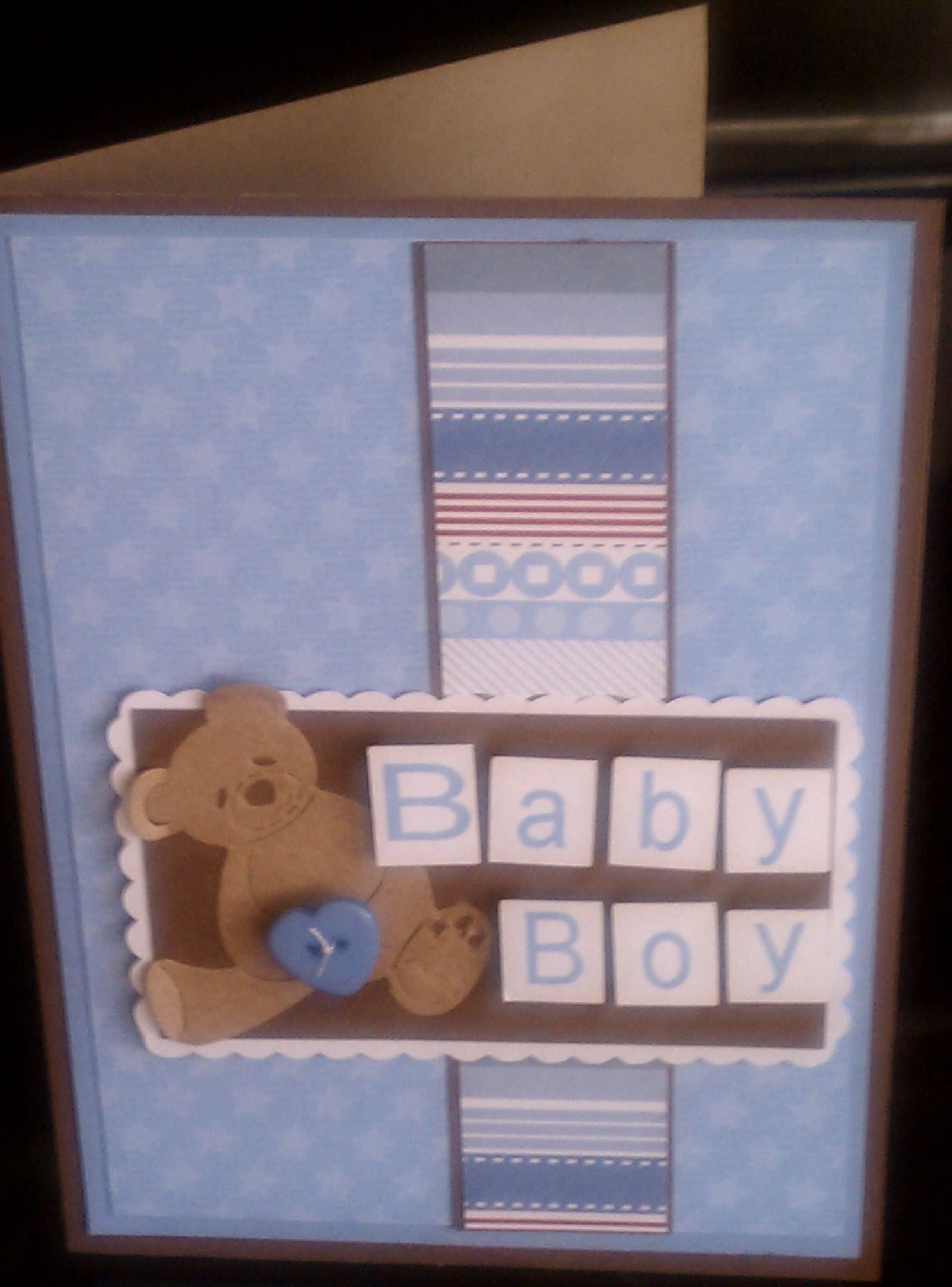 A boys card using wausau brown kraft and sky blue the for Michaels crafts wausau wi