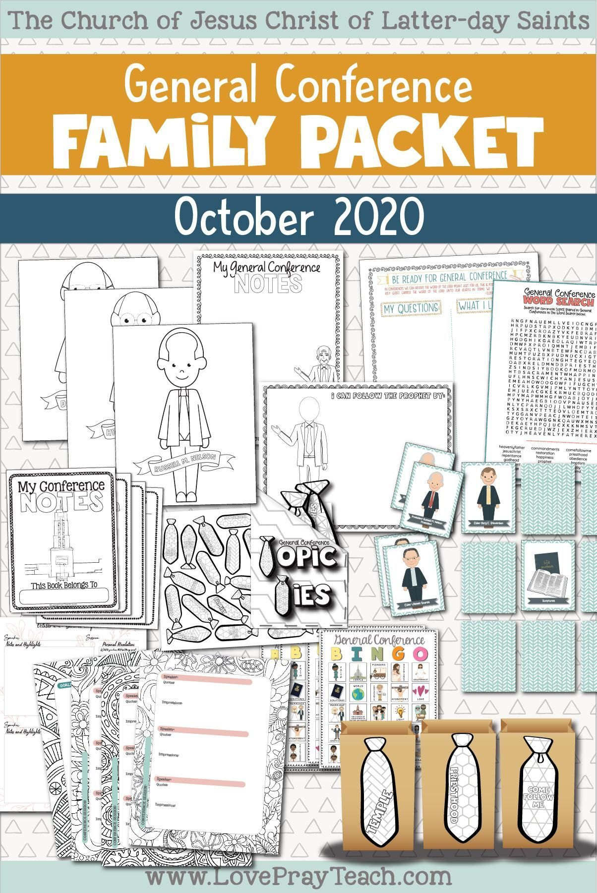 October 2020 General Conference Family Packet In 2020 General Conference Activities General Conference Activities For Kids General Conference Packets