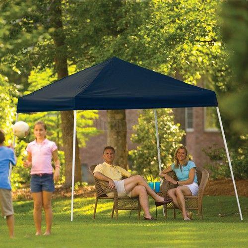Shelterlogic 10 X 10 Black Slant Leg Sport Canopy 22575 Canopy Outdoor Steel Pergola Outdoor