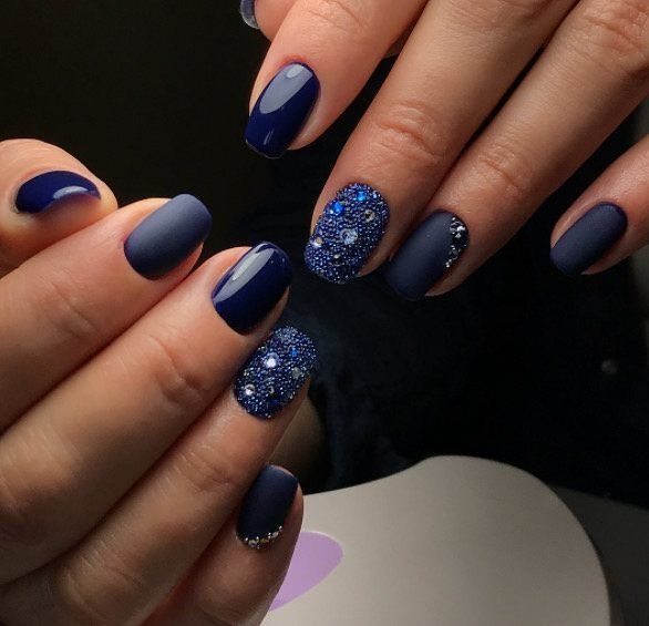 Matte and glossy nails using @akzentz nail products by ...
