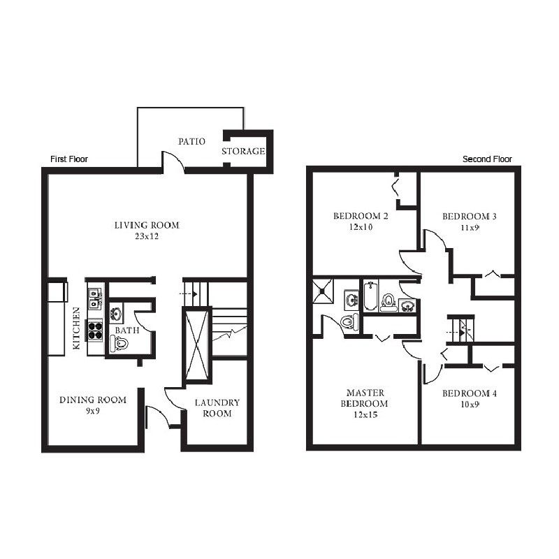 Floor Plans, House Rental, Lincoln Military Housing