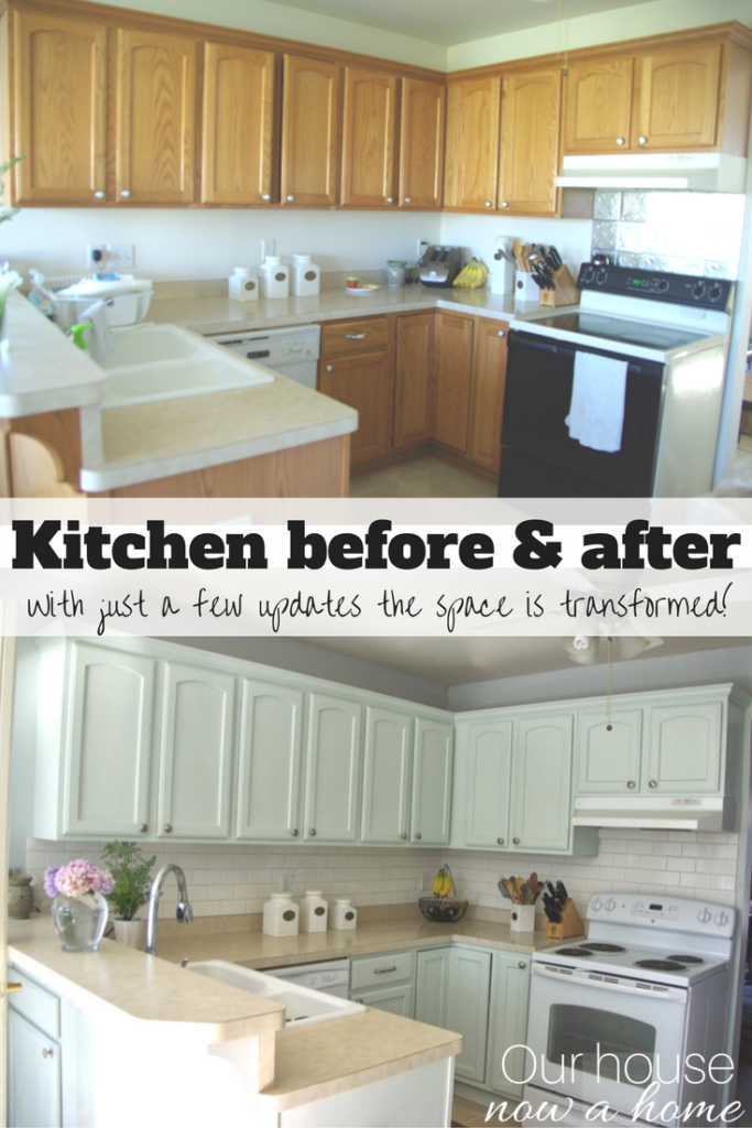 Improve A Small Kitchen With Small Updates And Diy Ideas Our House Now A Home Updated Kitchen Kitchen On A Budget Home Remodeling