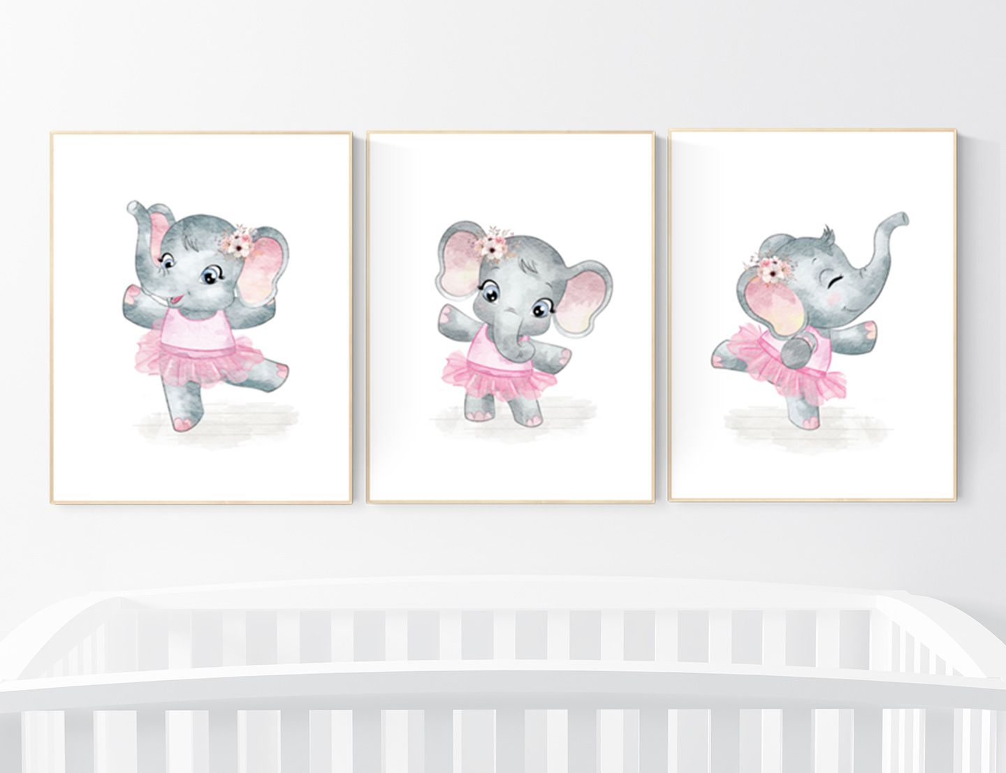 Ballerina elephant baby room decor girl Elephant nursery  Etsy
