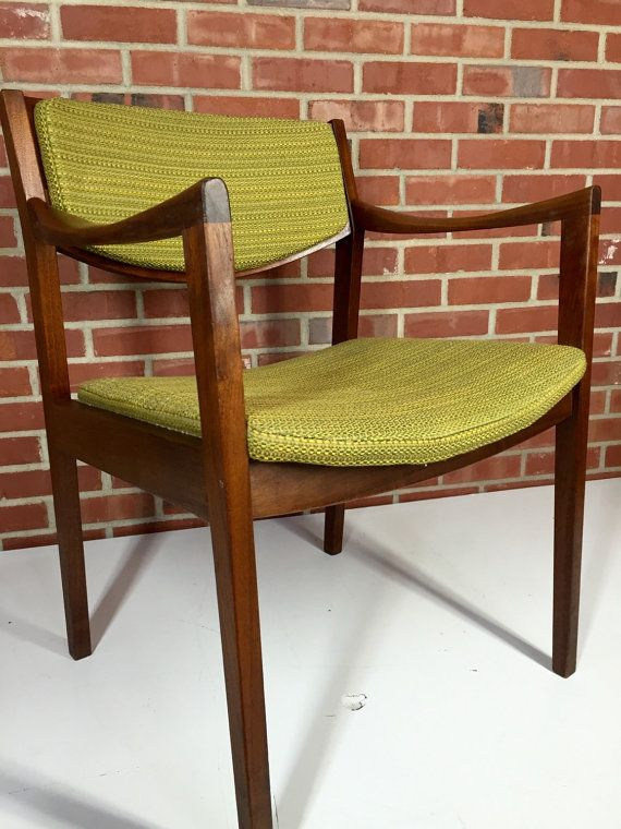 Mid Century Modern Walnut Gunlocke Chair Midcentury Modern