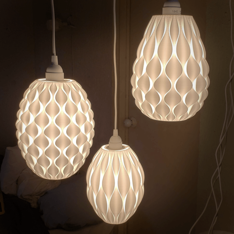 Crestas Is Family Of 3d Printed Lamps They Were Designed To Fit The Hemma Light Chord From Ikea They Play With The Light Creat Exclusive Lamp Lamp Lamps Plus