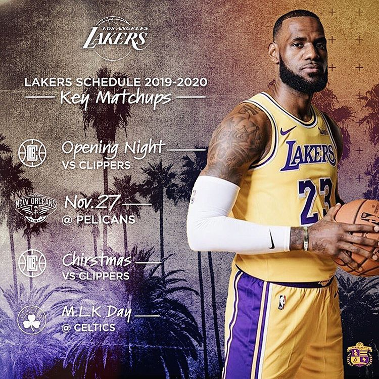 Swipe Full Lakers Schedule Has Been Released What Will Be Their Record This Season Lakersnation Lakers Basketball Beckham Jr Lebron James