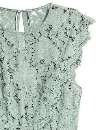 Lang kjole | Tåkegrønn | Dame | H&M NO
