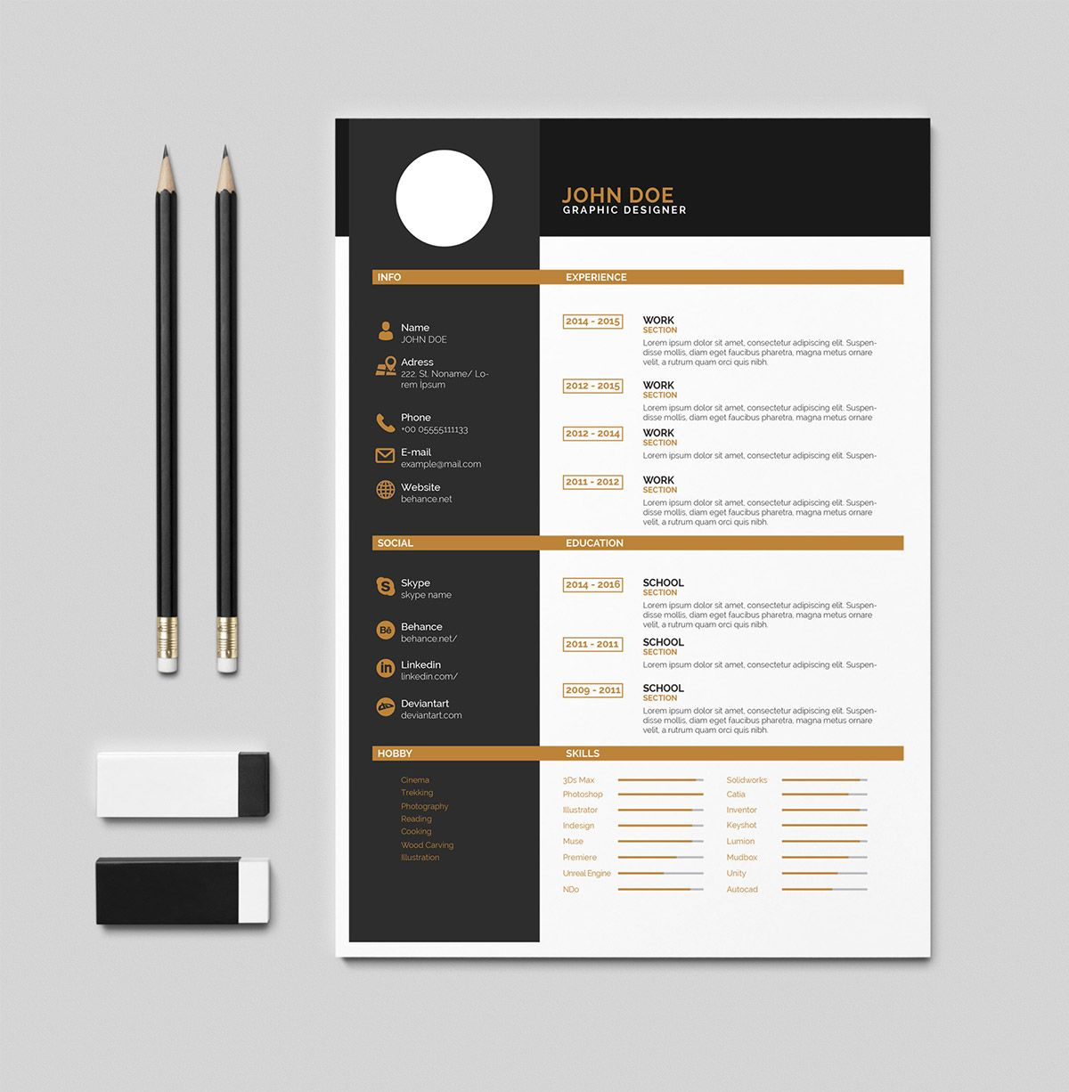 Free Cv Resume Pdf Template On Behance Templates For Indesign Cs6 ...