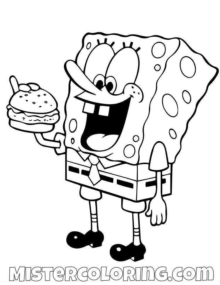 Spongebob Squarepants Coloring Pages For Kids Mister Coloring Free Kids Coloring Pages Spongebob Drawings Spongebob Coloring