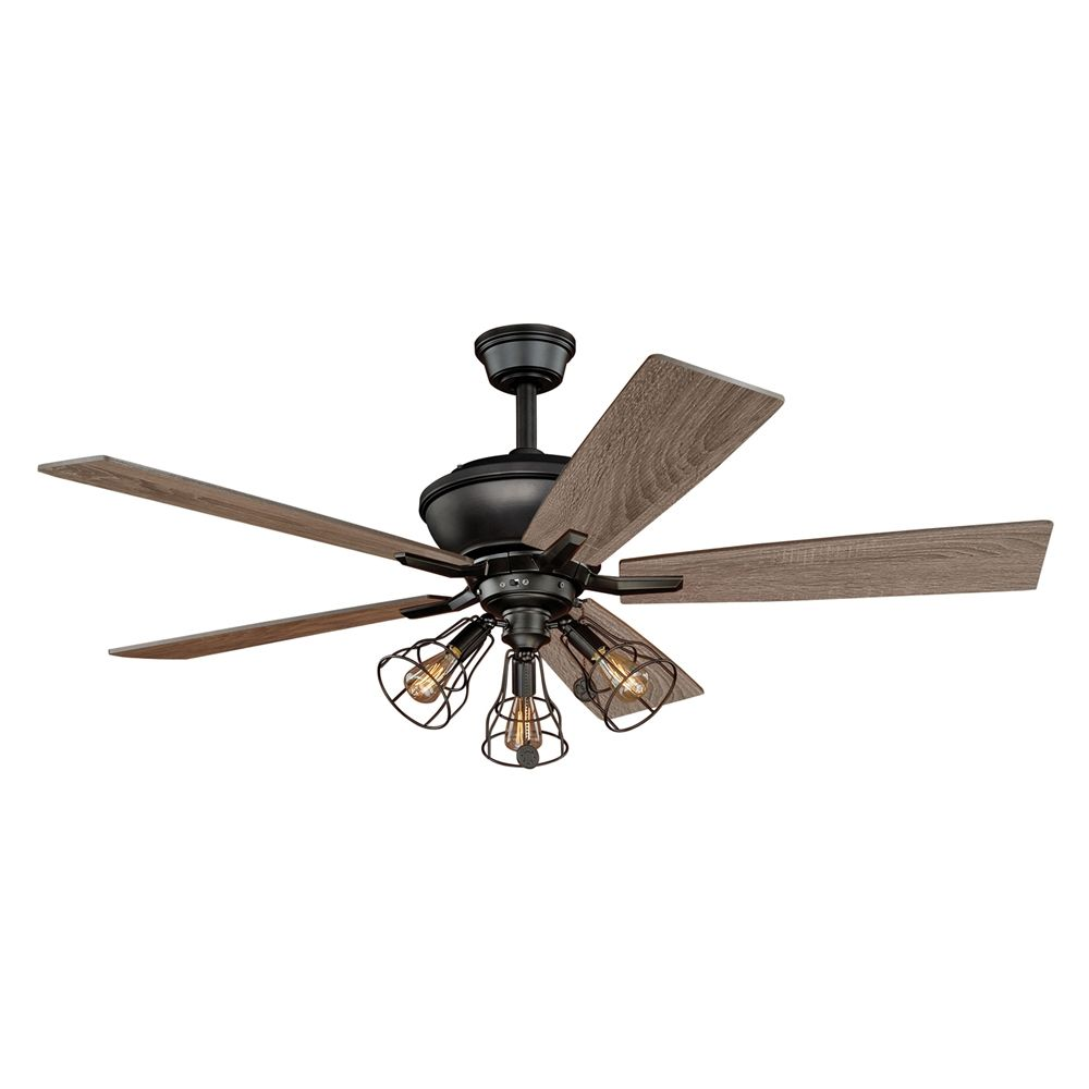Shop cascadia lighting clybourn 5 blade 52 in ceiling fan at shop cascadia lighting clybourn 5 blade 52 in ceiling fan at lowes canada mozeypictures Gallery
