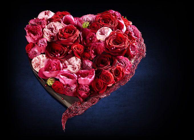 offrez des fleurs le bouquet coeur pr cieux avec interflora fleur pinterest le. Black Bedroom Furniture Sets. Home Design Ideas