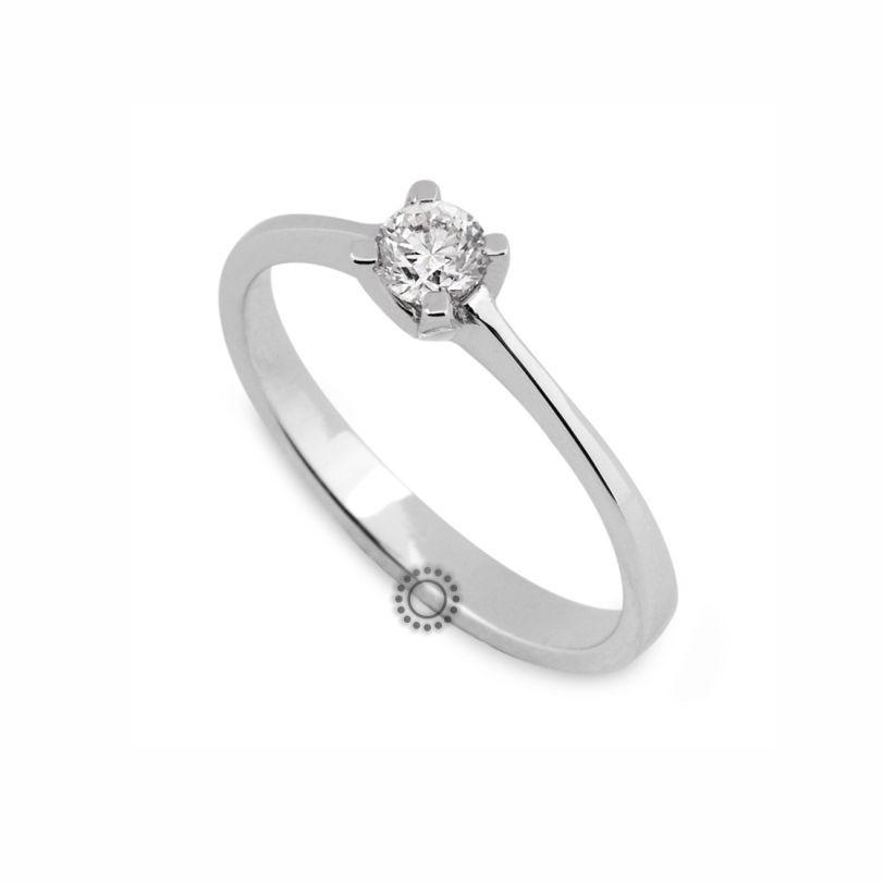 Μονόπετρο δαχτυλίδι με διαμάντι σε κοπή Brilliant από λευκόχρυσο  de967568e1d