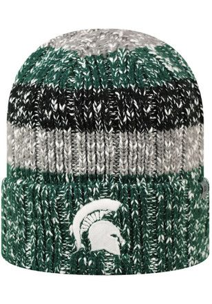 check out 74fdd 01fd1 Top of the World MSU Green Wonderland Knit Hat