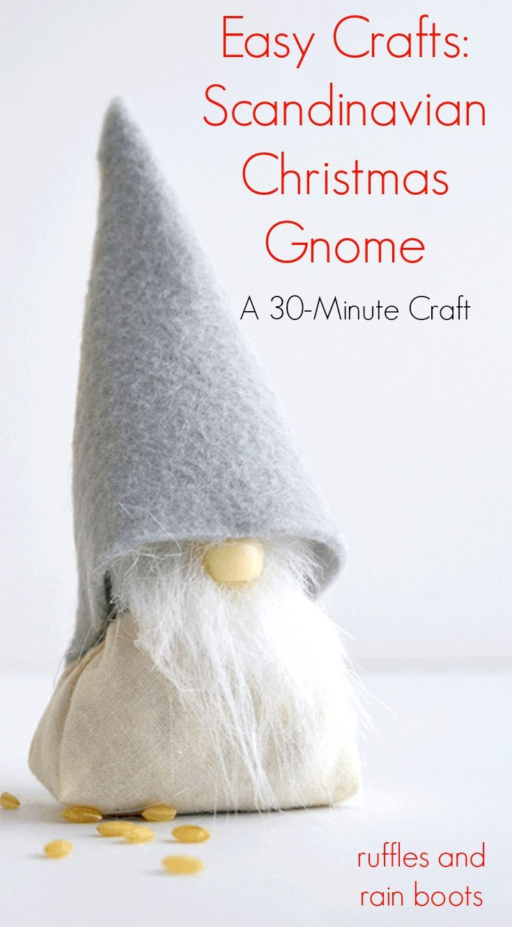 Make This Adorable Diy Christmas Gnome Craft In 30 Minutes Gnomes Crafts Scandinavian Christmas Christmas Gnome