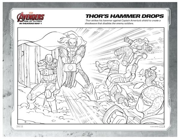 Marvel Avengers Coloring Page Thor S Hammer Drops Mama Likes This Marvel Coloring Avengers Coloring Pages Avengers Coloring