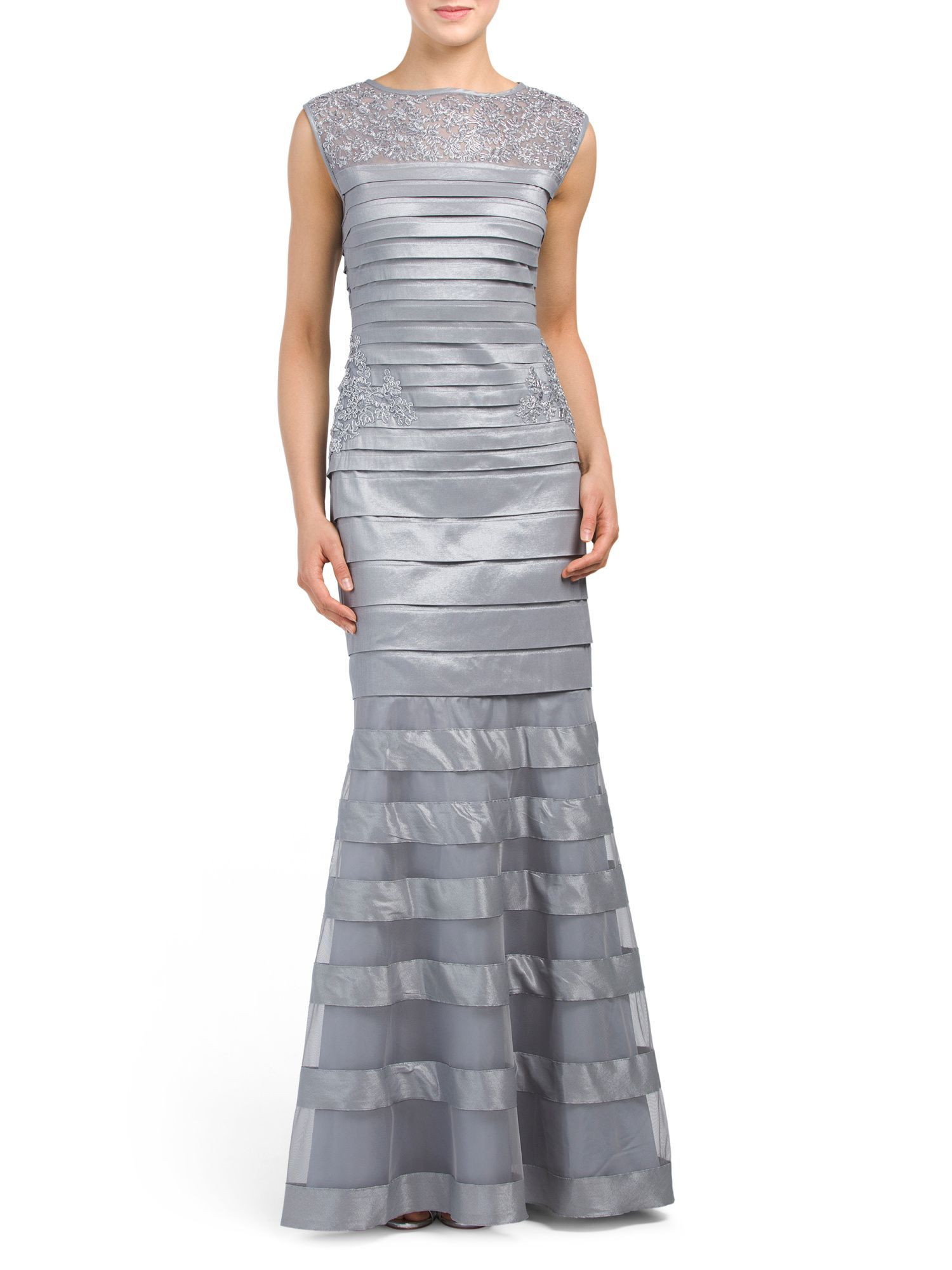 ad0bd65f547 Sleeveless Sateen Striped Gown. Sleeveless Sateen Striped Gown Tj Maxx