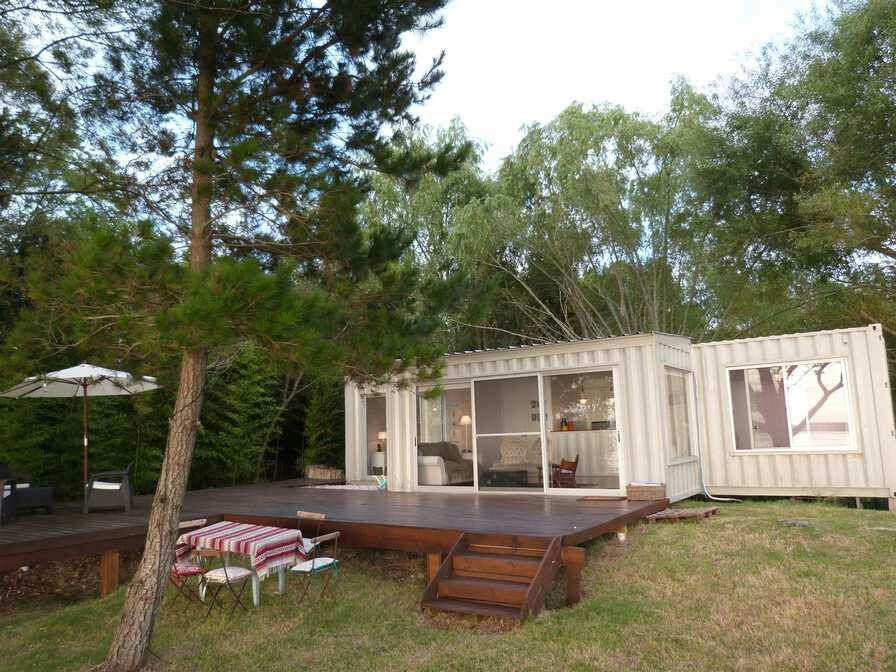 Pin By Marie Angell On Tiny Houses Container House House Exterior Tin Roof House