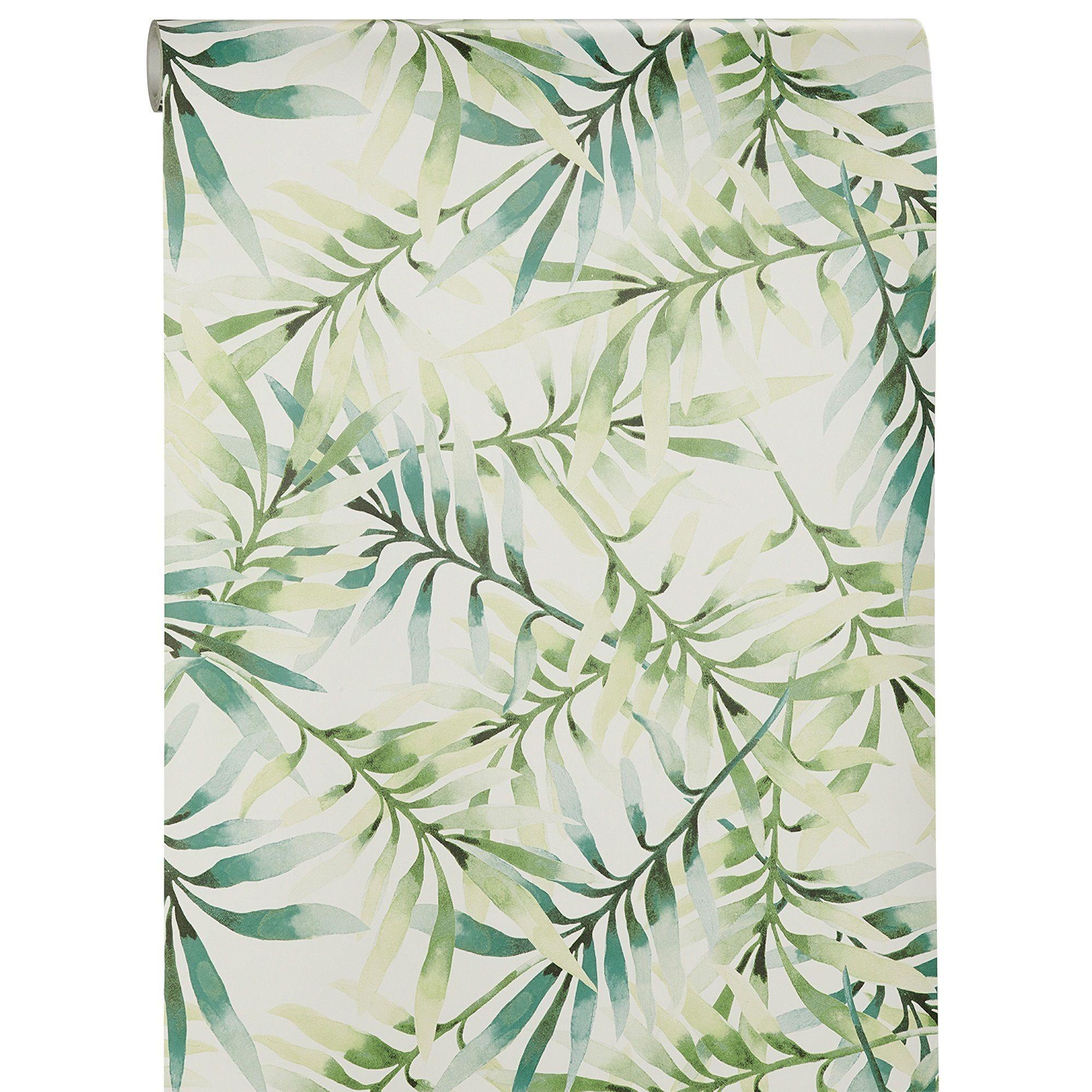 Behang Lente Groen  Wannahaves  Groen behang Behang