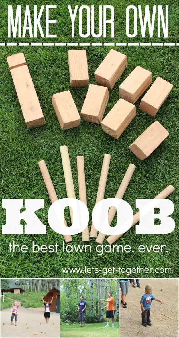 DIY Koob   15 DIY Outdoor Family Games - 15 DIY Outdoor Family Games Favorite Places & Spaces Pinterest