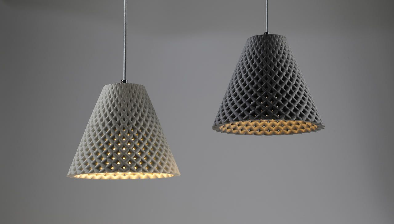 Dror Kaspi, the designer behind ARDOMA Design, designed HELIA, a pendant and table light with a unique, mesh-like structure that mimics woven concrete, which was inspired by the mesmerizing sunflower seed pattern of Fibonacci spirals.