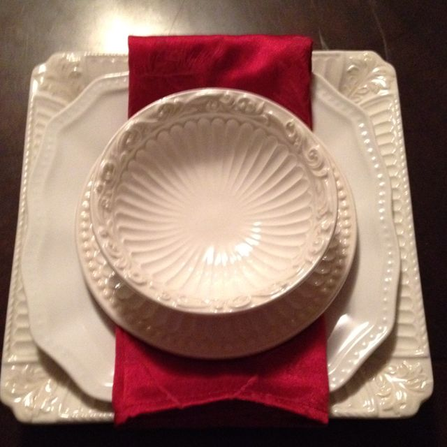 My Lenox Butler S Pantry Set Mixed With A Square Salad Plate From