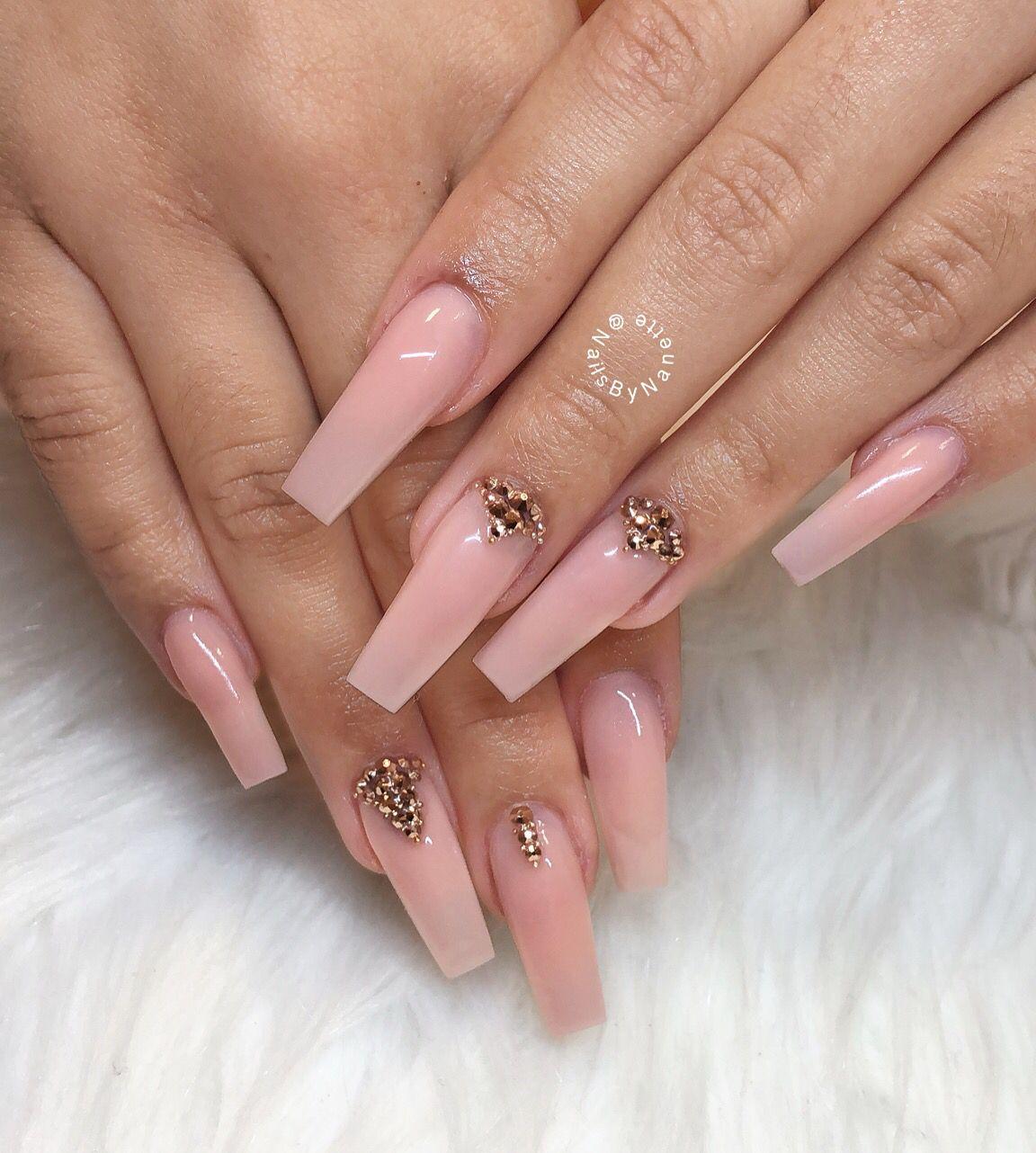 Nails By Nanette Tapered Square Nails Square Nails Bridal Nails